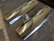 Aluminum Exhaust Heat Shield / Deflector, Pair