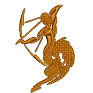 Sagittarius Archer Embroidered Digital Download