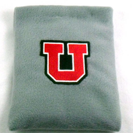 University of Utah Letter U Fleece Rice Heating Pad Front View