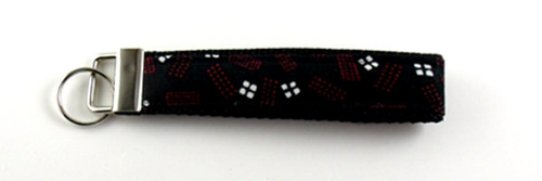 Fabric Covered Key Fob For Men Front View