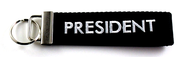 PRESIDENT - Embroidered Biker Key Fob