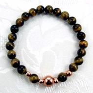 Men's Tiger's Eye/Copper Stretch Bracelet