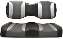 TSUNAMI Rear Seat Cushion Set for Genesis250/300 Black w/ Liquid Silver Rush and Lagoon Grey