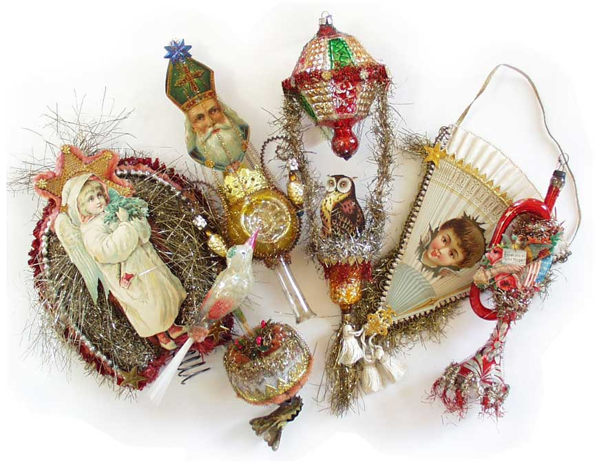 Dresden Star Ornaments | Victorian Ornaments | One-of-a-Kind