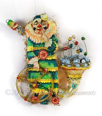 Imaginative Clown on Magical Glass Saxophone
