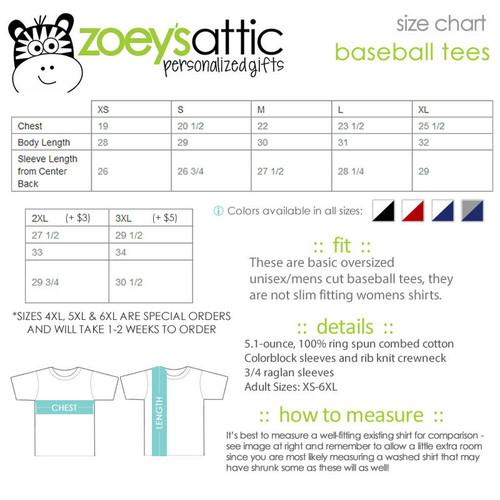 Love school teacher's personalized raglan shirt