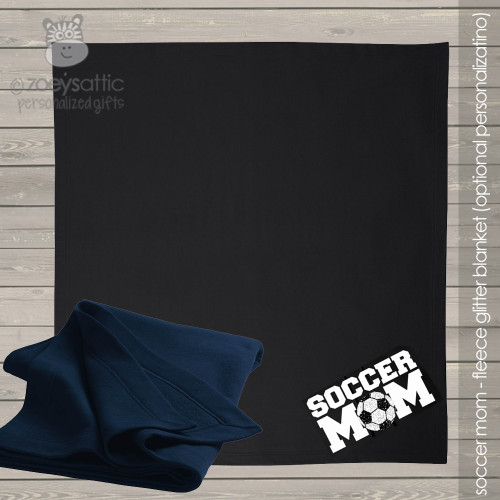 Soccer mom (or dad) fleece blanket