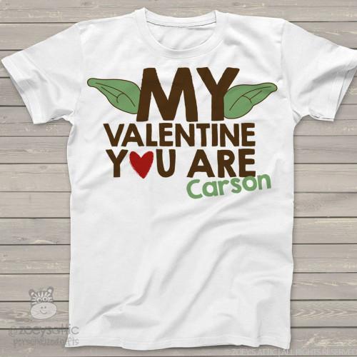 Funny Valentine yoda ears personalized shirt