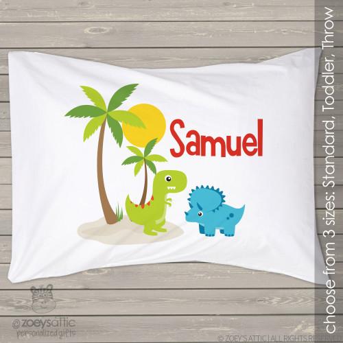 Dinosaur personalized pillowcase / pillow