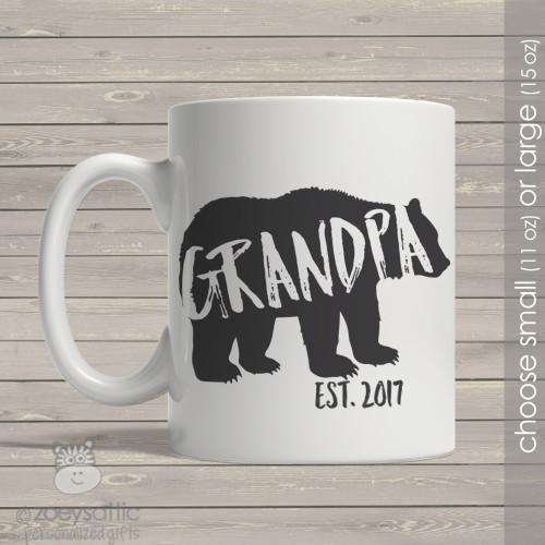 Grandpa established bear coffee mug