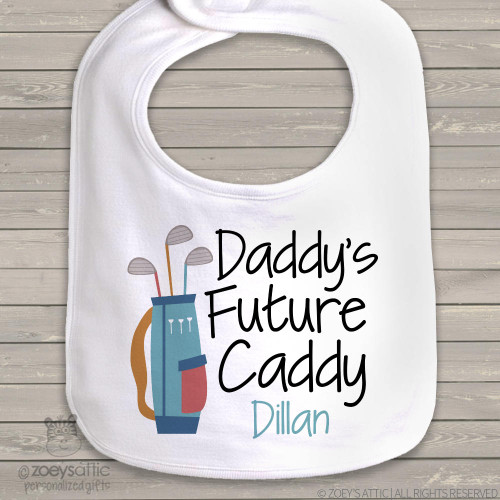 Daddy's future caddy personalized bib