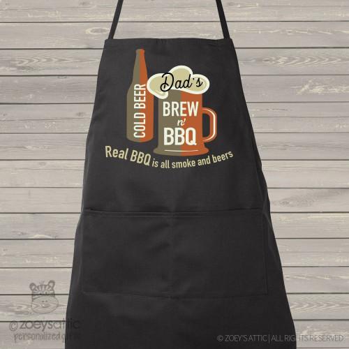 Dad brew bbq custom dark apron