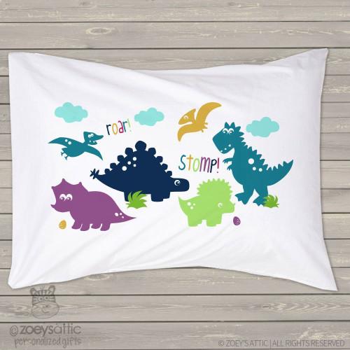 Dino roar stomp pillowcase / pillow