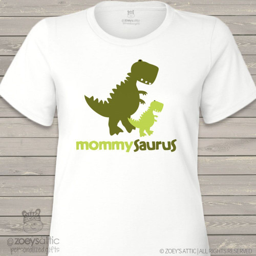 Dinosaur mommysaurus custom shirt