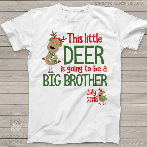 Christmas reindeer big brother to be Tshirt
