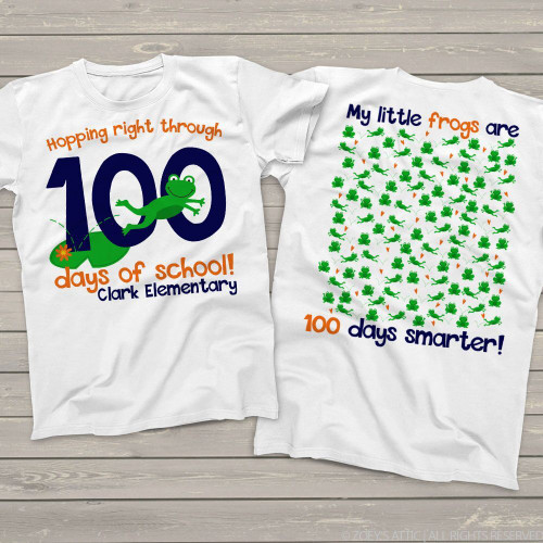 Teacher 100 days smarter frogs Tshirt