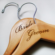 Engraved Bride or Groom Hanger (Sold Individually)