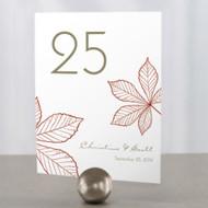 Autumn Leaf Table Number Cards (Set of 12)