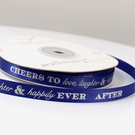 """Cheers to Love, Laughter and Happily Ever After"" Ribbon"