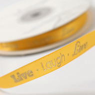 """Live Laugh Love"" Ribbon"