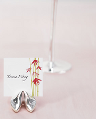 fortune cookie place card holder set of 12
