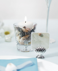 shell silver place card holder set of 12