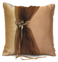 Bronze Elegance Ring Pillow