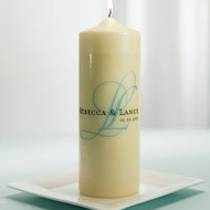 Modern Monogram Personalized Unity Candle