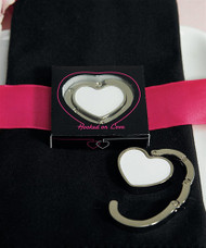 White Heart-Shaped Purse Hook