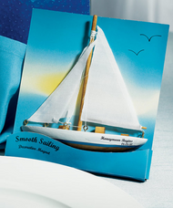 """Smooth Sailing"" Sail Boat Magnet (Set of 6)"