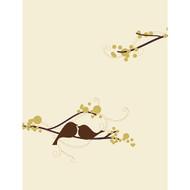 Love Bird Blank Note Card (Set of 6)