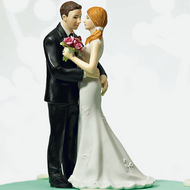 "Cheeky Couple ""My Main Squeeze"" Cake Topper"