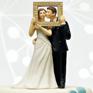 """Picture Perfect"" Couple Cake Topper"