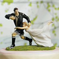 """A Love Match"" Rugby Couple Cake Topper"