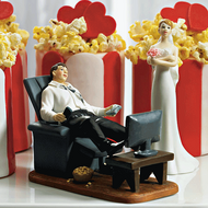 """Couch Potato"" Groom Cake Topper"