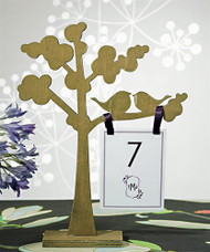 "Wooden Die-cut Trees with ""Love Birds"" Silhouette (Set of 2)"
