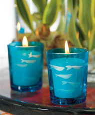 Carved Glass Fish Tea Light Holder (Set of 8)