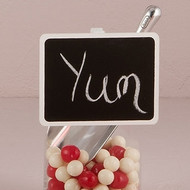 Wooden Chalkboard Clip with White Wash Finish (Set of 6)