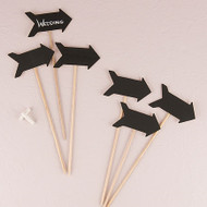 Wooden Chalkboard Stick in Directional Arrow Shape (Set of 6)