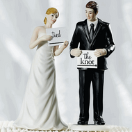 Read My Sign - Bride and Groom Cake Topper