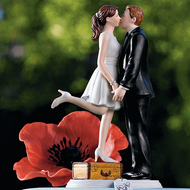 """A Kiss and We're Off!"" Cake Topper"