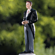 Groom in Traditional Morning Suit Cake Topper