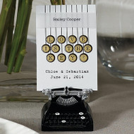 Vintage Typewriter Place Card Holder (Set of 6)