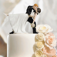 A Romantic Dip Dancing Couple Cake Topper