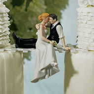 The Look of Love Romantic Couple Cake Topper