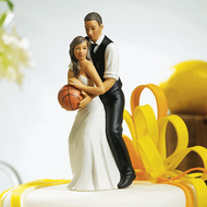 Basketball Dream Team Couple Cake Topper (Ethnic)