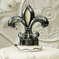 Decorative Fleur De Lis Cake Topper