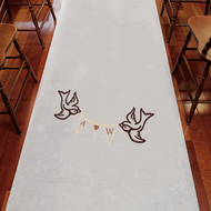 Birds with Love Personalized Aisle Runner