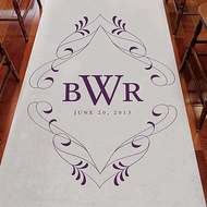 Flourish Monogram Personalized Aisle Runner