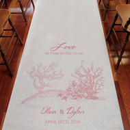 Love as Deep as the Ocean Personalized Aisle Runner